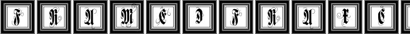 FramedFraxCaps Font