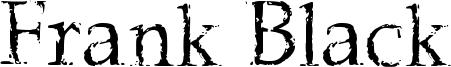 Frank Black Font