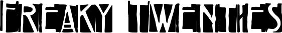 Freaky Twenties Font