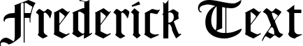 Frederick Text Font