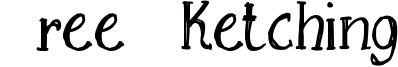 Free Sketching Font