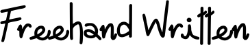 Freehand Written Font