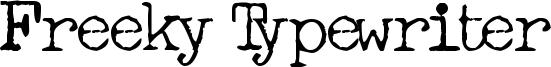 Freeky Typewriter Font