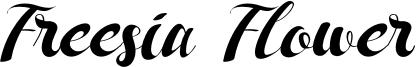 Freesia Flower Font