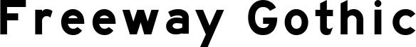 Freeway Gothic Font