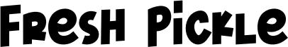 Fresh Pickle Font
