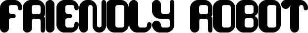 Friendly Robot Font