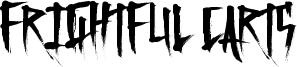 Frightful Carts Font