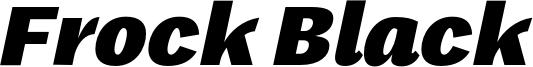 Frock Black Font