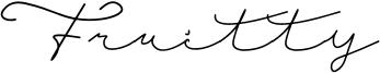 Fruitty Font