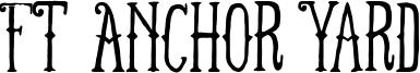 FT Anchor Yard Font