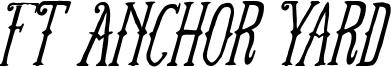 FTAnchorYard-Italic.ttf