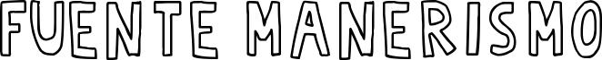 Fuente Manerismo Font