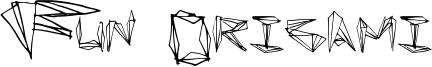 Fun Origami Font