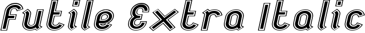 Futile Extra Italic Font