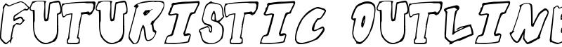 Futuristic Outline Font