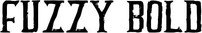 Fuzzy Bold Font