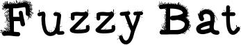 Fuzzy Bat Font