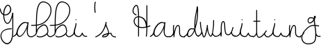 Gabbi's Handwriting Font