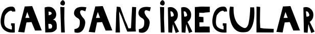 Gabi Sans Irregular Font