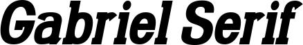 Gabriel Serif Condensed Bold Italic.ttf