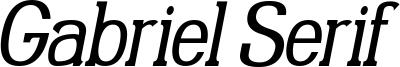 Gabriel Serif Condensed Italic.ttf