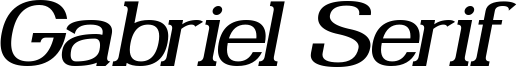Gabriel Serif Italic.ttf