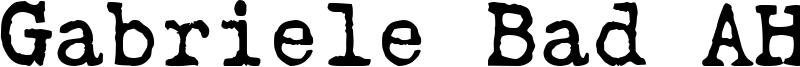 Gabriele Bad AH Font