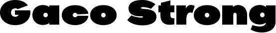 Gaco Strong Font