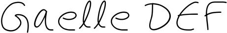 Gaelle DEF Font