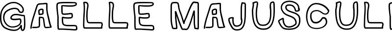 Gaelle Majuscule Font