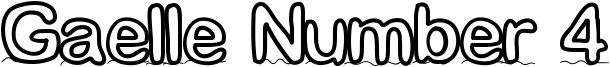 Gaelle Number 4 Font