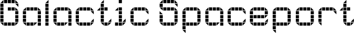 Galactic Spaceport Font