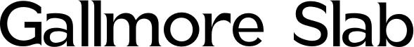 Gallmore Slab Font