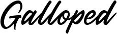 Galloped Font