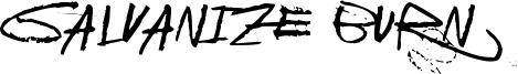 Galvanize Burn Font