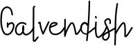 Galvendish Font