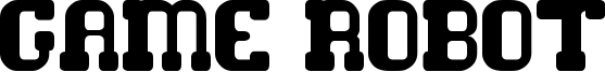 Game Robot Font