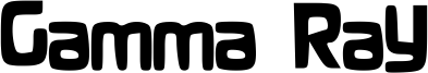 Gamma Ray Font