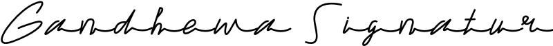 Gandhewa Signature Font