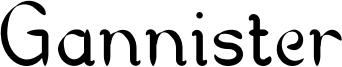 Gannister Font