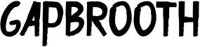 Gapbrooth Font