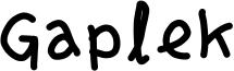 Gaplek Font