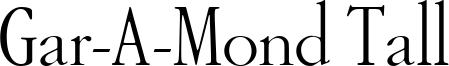 Gar-A-Mond Tall Font
