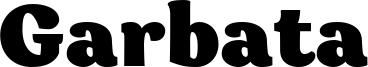 Garbata Font