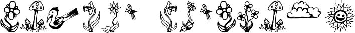 Garden Dingbats Font