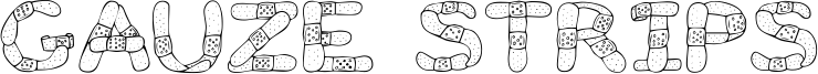Gauze Strips Font