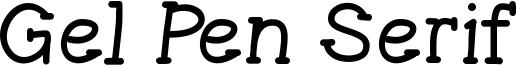 Gel Pen Serif Font
