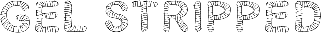 Gel Stripped Font