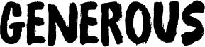 Generous Font